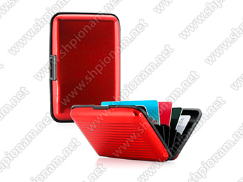 Кошелек RFID protect card-red